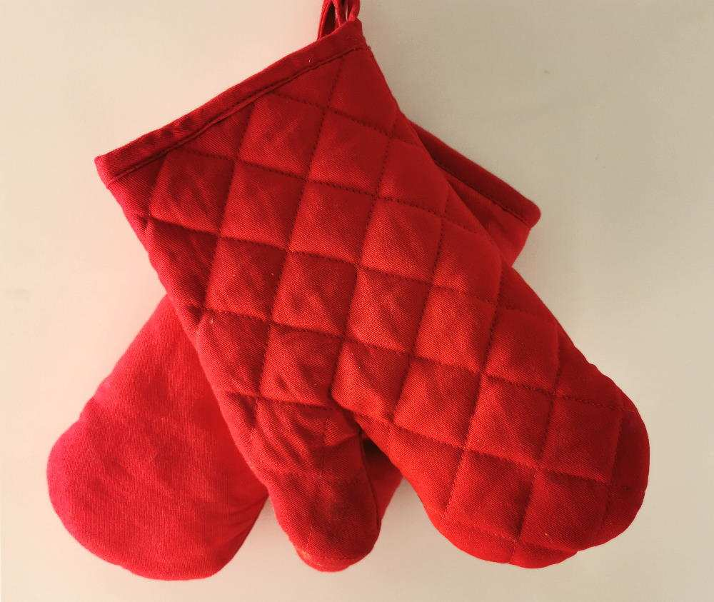 Backofenhandschuhe rot