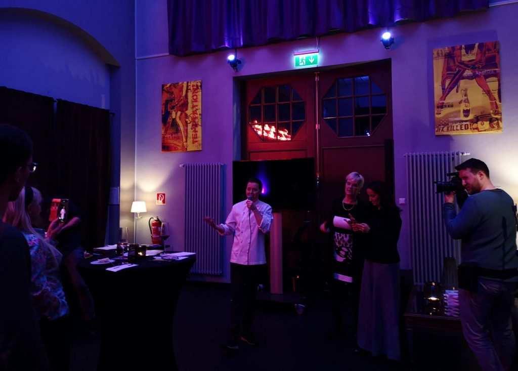 Berlt Seebacher vom Kraftwerk Restaurant beim Pressedinner mit European Authentic Pleasure