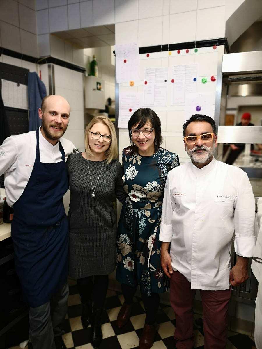 Dinner Event beim Rheingau Gourmet und Wein Festivals 2020 im Hotel Kronenschlösschen mit dem Sternekoch Vineet Bhatia aus London mit indischer Küche
