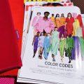 Farbenfreunde Kissen mit Zeitschrift für colourlovers
