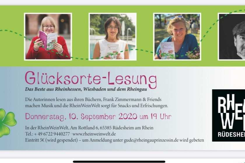 Glücksorte Lesung in Rüdesheim im Rheingau