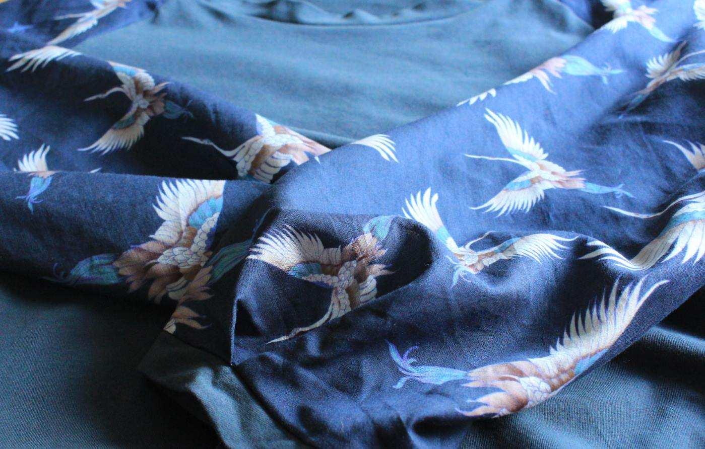 NIX Mode aus Berlin, Bluse mit Kraniche