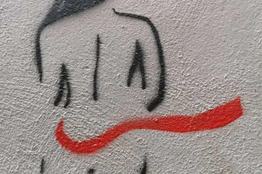 Frauenkörper Graffiti
