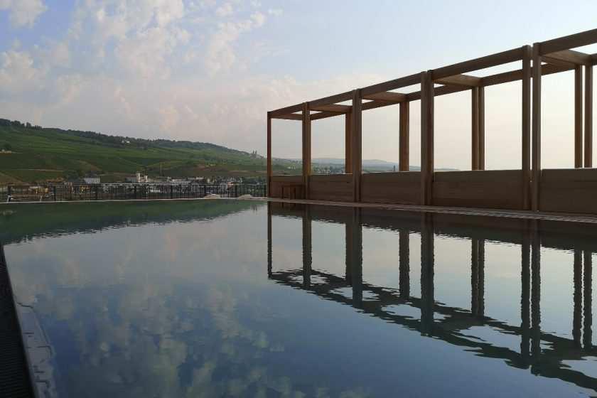 Pool with a view at SPA Hotel Papa Rhein Bingen bei Frankfurt