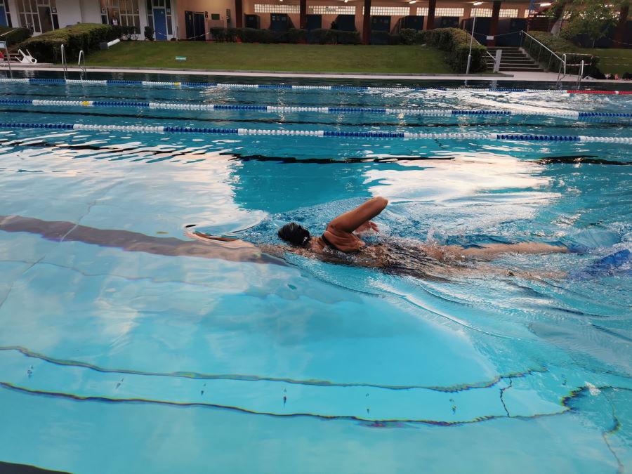 Schwimmtraining _Wechselzone in Wiesbaden