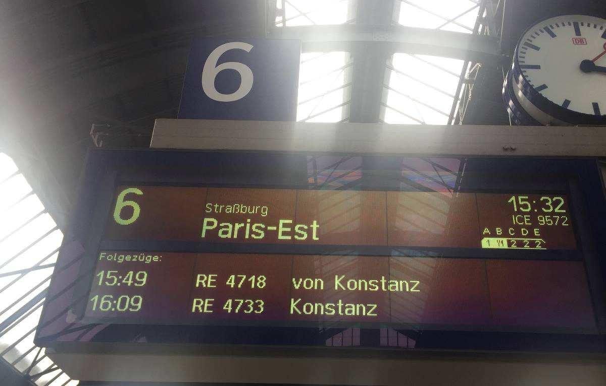 Anreise Paris per Bahn