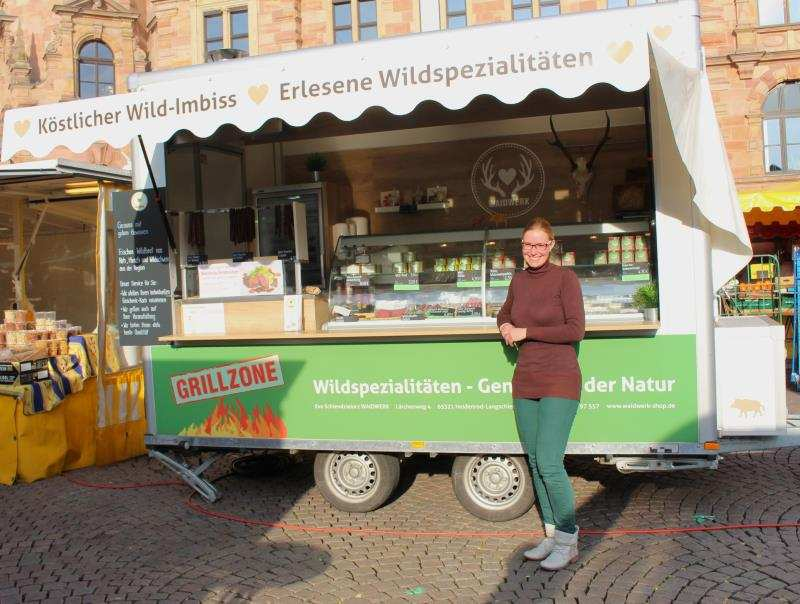 Eva Schiendzielorz WAIDWERK Wildspezialitäten Wiesbaden Wochenmarkt